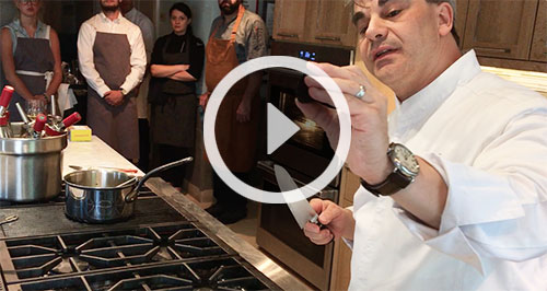 Chef Gabriel Kreuther demonstration video at Nantucket Center